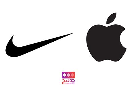 لوگوی شرکت کامپیوتری اپل و شرکت نایک